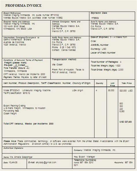 Resume Brochure Exle by Proforma Invoice Template Sle Format Exle Brochure
