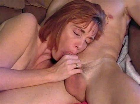 Mature Redhead Neighbor Mom Gives Me Awesome Blowjob Video