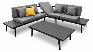 Salon Jardin Angle : salon de jardin table basse alu piaxa mobilier moss ~ Teatrodelosmanantiales.com Idées de Décoration