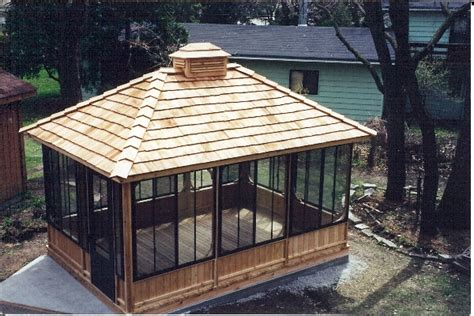 cool gazebo ideas cool rectangular screened gazebo would paint wood white and match roof shingles to the house