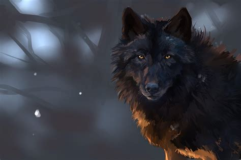 Wallpaper Black Wolf Background by Wolf Wallpapers Wallpaper Cave