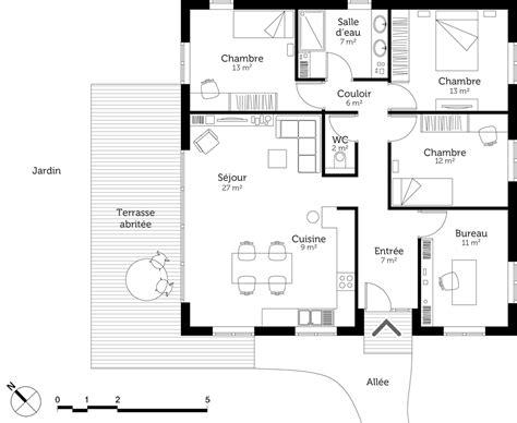 plan de cuisine gratuit pdf cuisine plan maison moderne avec chambres ooreka plan