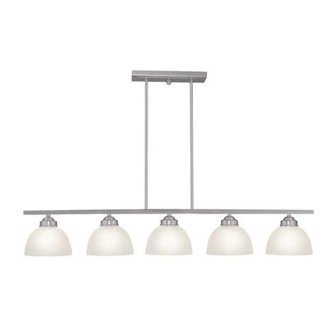 brushed nickel kitchen lighting shop livex lighting somerset 42 in w 5 light brushed 4944