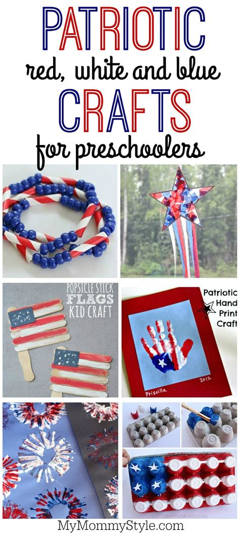 25 patriotic crafts for my style 545 | Patriotic red white and blue crafts for kids for 4th of july or Memorial day(pp w768 h1706)