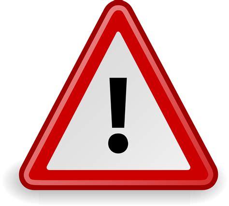 Warning sign drawing free image
