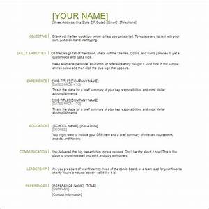 118 resume templates free word excel pdf formats With basic resume template pdf