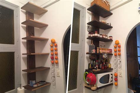 etagere de cuisine fabrication d 39 étagère en bois pour cuisine avec