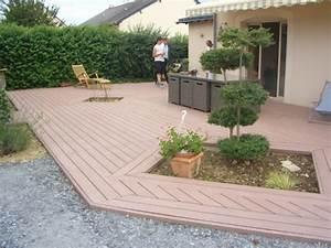 terrasse bois composite faites le bon choix With sol de terrasse pas cher