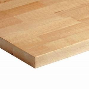 Plan De Travail 70 Cm De Profondeur : plan de travail bois h tre massif 200 x 65 cm mm ~ Melissatoandfro.com Idées de Décoration