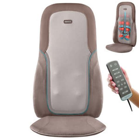 homedics sbm750h shiatsu percussion chair cushion back