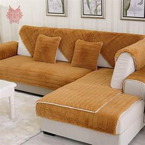 Modern, Style, Camel, Green, Long, Fur, Sofa, Cover, Plush, Slipcovers, Winter, Couch, Furniture, Covers, Capa