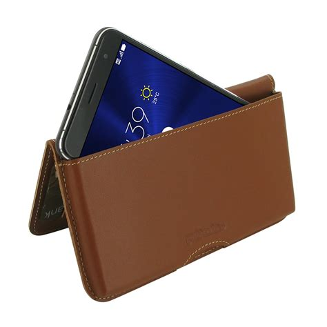 asus zenfone 3 wallet pouch brown pdair sleeve