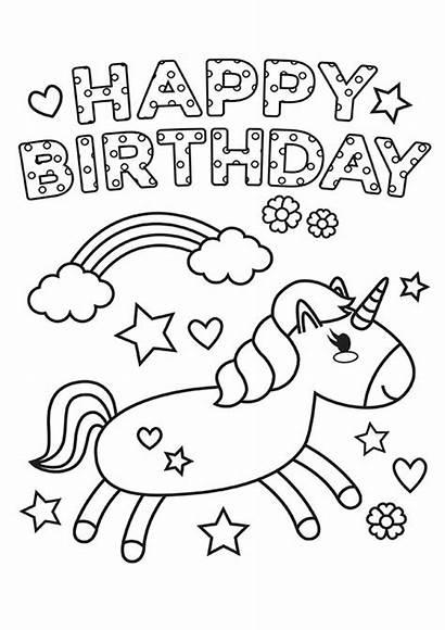 Birthday Happy Coloring Easy Tulamama Printable Card