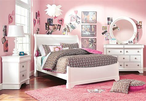 Affordable Bedroom Furniture Stores by Oberon White 5 Pc Sleigh Bedroom Only