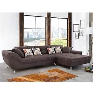 sofa polsterung wohnlandschaft san francisco sofa ecksofa dunkelbraun mit kaltschaum polsterung eur 999 95