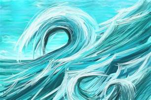 interior home color schemes waves collision abstract wave paintings painting by