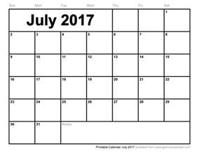 Excel Monthly Work Schedule Template July 2017 Calendar Template Monthly Calendar Printable