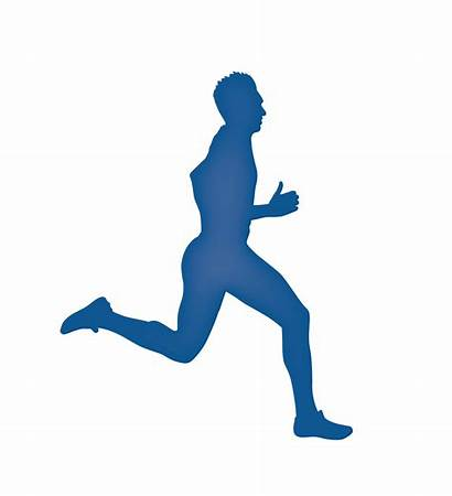 Running Silhouette Runner Clipart Side Abstract Clip