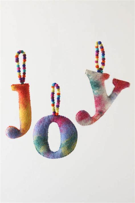 joy felt ornament diy christmas ornaments felt ornaments tie dye monogram