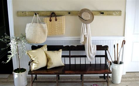 Entryway Bench Cushion And Coat Rack Set