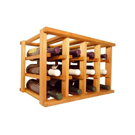 home depot wine rack oceanstar 12 bottle bamboo countertop wine rack wr1149