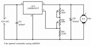 Wiring Schematic Diagram  12v Dc Fan Speed Controller