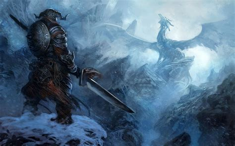 Wallpaper Fantasy Art Artwork Sword Dragon The Elder