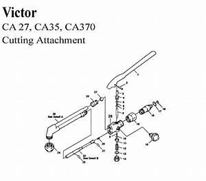 Victor Ca27 Ca35 Ca370 Cutting Torch Basic Rebuild Repair