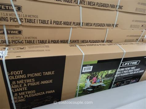 folding picnic table costco lifetime products 6 foot folding picnic table