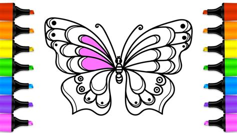 How To Draw A Beautiful Butterfly With Colored Markers