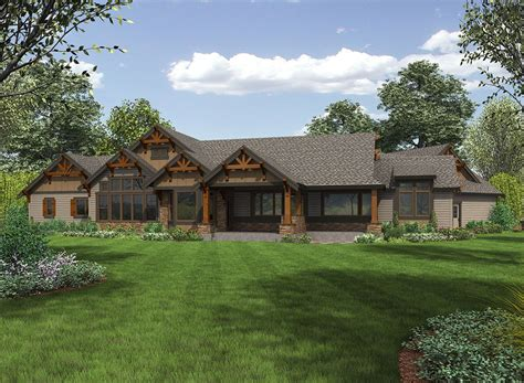 plan jd  story mountain ranch home  options craftsman house plans ranch house