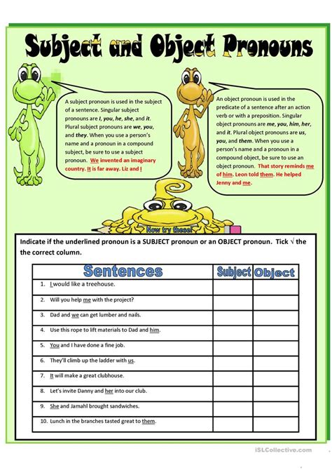 worksheet object pronouns worksheet grass fedjp