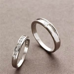 matching wedding rings couples matching sterling silver rings cz wedding bands set yoyoon 8747