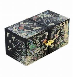 Boite A Bijoux Originale : boite bijoux noire d cors fantaisie asiatique en nacre ~ Teatrodelosmanantiales.com Idées de Décoration