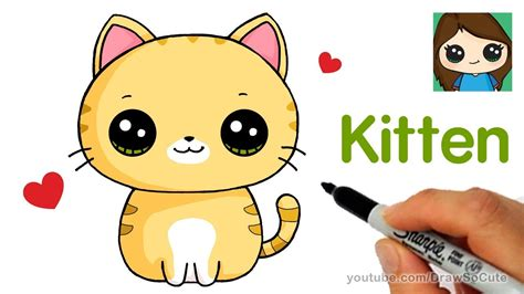draw  kitten super easy cumseface