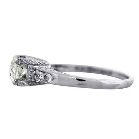 platinum deco style engagement ring boca raton