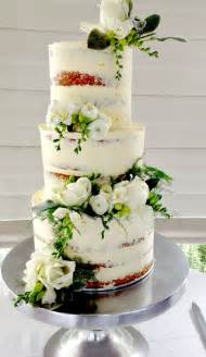 wedding flowers auckland wedding cake adorned with fresh flowers and