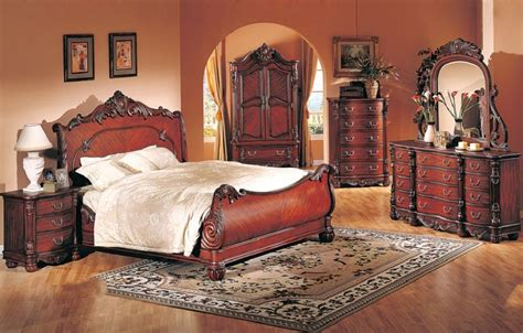 formal cal king pc bedroom set cherry finish hot sectionals