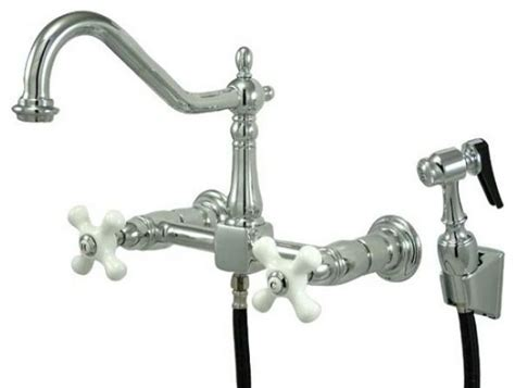 center wall mount kitchen faucet wall mounted side