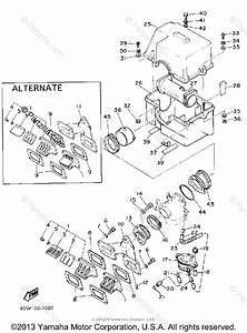 Yamaha Snowmobile 1988 Oem Parts Diagram For Air Cleaner