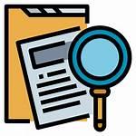 Investigation Icon Icons Investigate Evidence Crime Folder