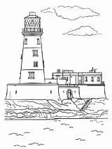 Lighthouse Coloring Ausmalbilder Leuchtturm Printable Mycoloring Ausdrucken Malvorlagen Kostenlos Zum Adults sketch template