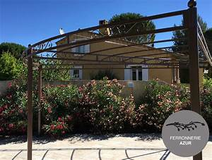 Pergola Fer Forge Provencale : pergola et abris piscine fer forg bormes les mimosas var ~ Melissatoandfro.com Idées de Décoration