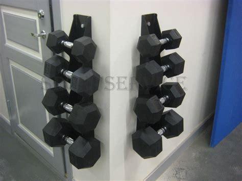 dumbbell holder   wall