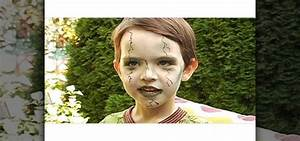 How to Create a scary green zombie look for a little kid ...