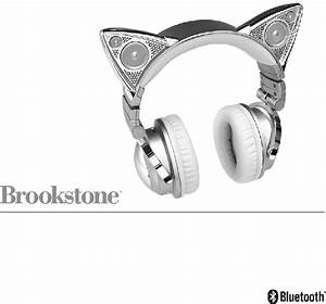 Brookstone Wireless Cat Ear Headphones Headphone Manual