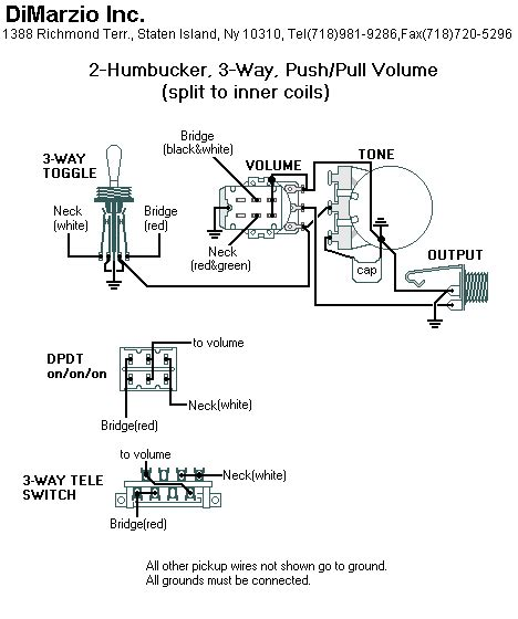 complete dimarzio pickup routing specs wiring diagrams sevenstring org