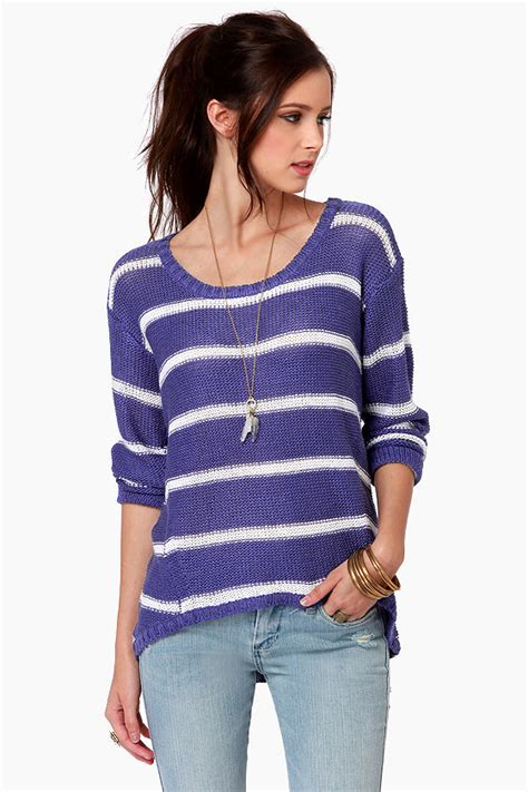and white striped sweater striped sweater blue sweater white sweater 63 00
