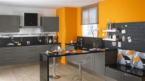 cuisine orange et gris conseils déco cuisine orange et gris