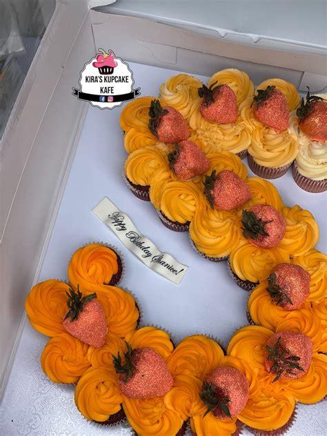 double row pull  cupcake cake letters kiras kupcake kafe